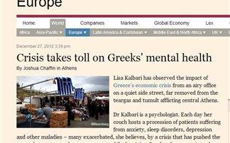 FT για Ελλάδα: Η κρίση έφερε αυτοκτονίες και κατάθλιψη