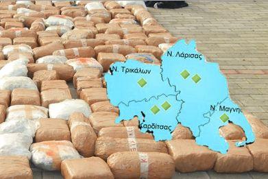 Αποθήκη ναρκωτικών η Θεσσαλία