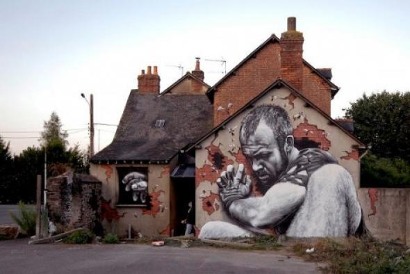 Ένα απίστευτο 3D γκράφιτι