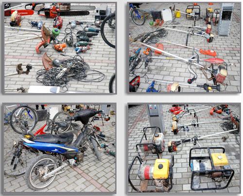 Aστυνομική επιχείρησησε οικισμό ROMA στον Τύρναβο Λάρισας
