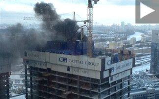 Μεγάλη φωτιά σε ουρανοξύστη στο εμπορικό κέντρο της Μόσχας