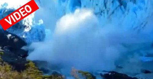 Θεαματική κατάρρευση πάγων στην Παταγονία
