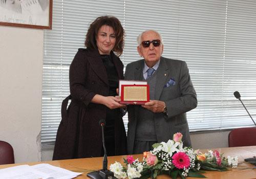 Τιμήθηκε ο δωρητής κ. Αχιλλέας Μακρόπουλος