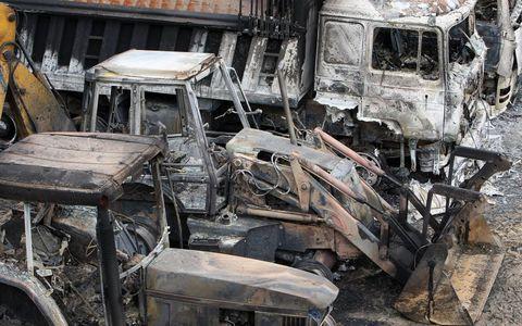 Εγκληματική επίθεση κουκουλοφόρων στο εργοτάξιο της «Ελληνικός Χρυσός»