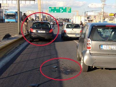 Τροχαίο ατύχημα στην Εθνική Oδό