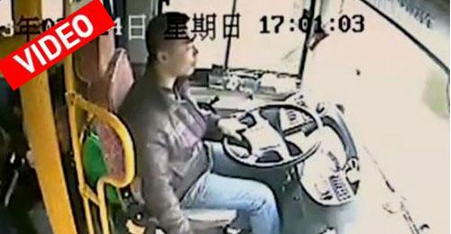 Οδηγός λεωφορείου ξεγελά τον θάνατο με απίστευτα αντανακλαστικά και τύχη