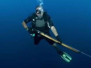 «Βγήκαν»  για ψαροντούφεκο στο Θαλάσσιο Πάρκο Αλοννήσου