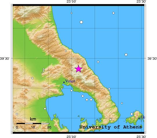 Σεισμός 2.7 βαθμών Ρίχτερ στον Βόλο