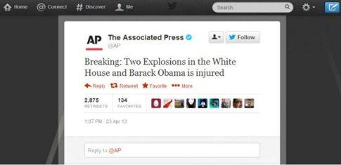 Χάκερ εισέβαλαν στο Associated Press με δήθεν είδηση για βόμβες στο Λευκό Οίκο