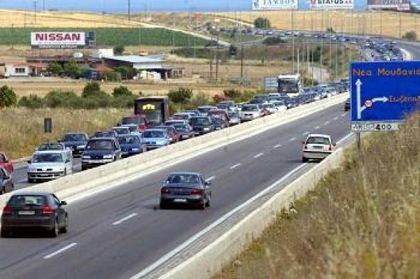 ΤΩΡΑ- Κλείνει λόγω ατυχήματος η Εθνική οδός Θεσσαλονίκης