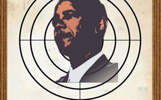Ο Ομπάμα με μία... σφαίρα στο κεφάλι
