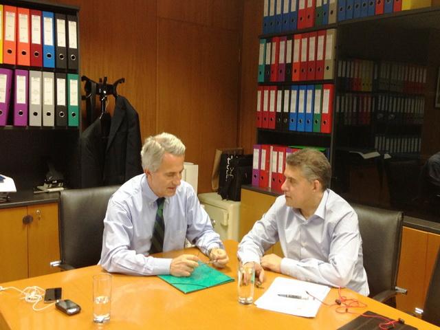 Συνάντηση περιφερειάρχη Θεσσαλίας με τον πρόεδρο της ΕΡΓΟΣΕ