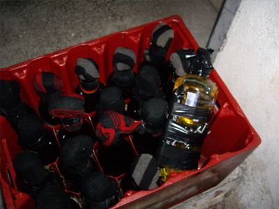 Βρέθηκαν βόμβες μολότοφ στο ΑΠΘ
