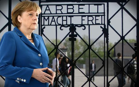 Ιστορική επίσκεψη Μέρκελ στο στρατόπεδο συγκέντρωσης του Νταχάου