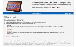 Η Microsoft ανταλλάσσει το παλιό σας iPad με 200 δολάρια