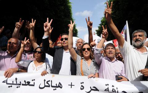 Απεργούν οι δημοσιογράφοι στην Τυνησία