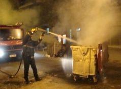 Μπαράζ πυρκαγιών σε κάδους απορριμμάτων του Δήμου Βόλου