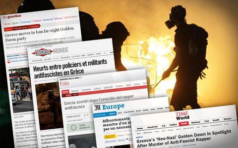 Διεθνή ΜΜΕ: «Η τρομοκρατία της Χρυσής Αυγής - Πρώτη φορά ακροδεξιοί σκοτώνουν Ελληνα»
