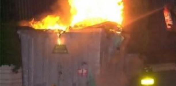 Έκαψαν 4 κάδους απορριμμάτων στη Λάρισα