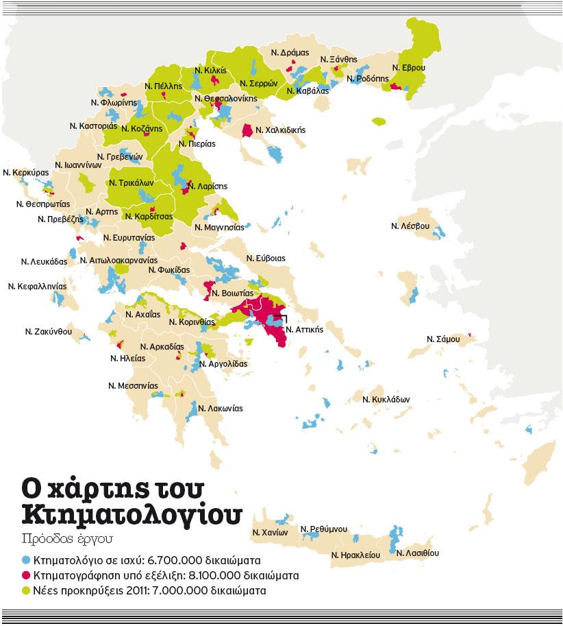 Κτηματολόγιο  στη  Μαγνησία μέχρι  το 2020