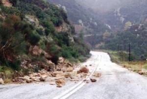 Ιωάννινα: Πολύωρη καταρρακτώδης βροχή προκαλεί κατολισθήσεις και καθιζήσεις