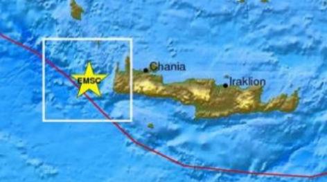 Ισχυρός σεισμός 6 ρίχτερ στην Κρήτη. Κουνήθηκε και η Αθήνα