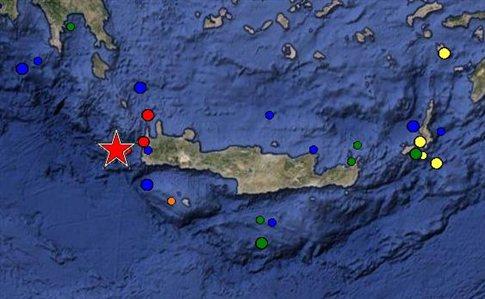 Σεισμός 6,3 βαθμών δυτικά του νομού Χανίων - Aισθητός μέχρι την Αττική