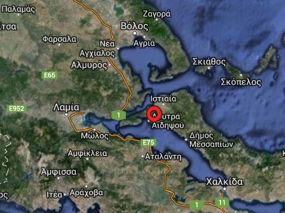 Σεισμός μεγέθους 4,0 βαθμών πρίν λίγο
