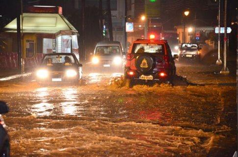 Ζημιές στην Κορινθία από τις ισχυρές βροχοπτώσεις