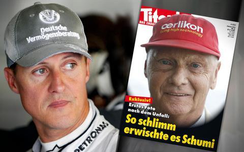 Εξώφυλλο γερμανικού περιοδικού προκαλεί με Λάουντα - Σουμάχερ