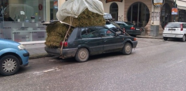 Τρίκαλα: Αυτό είναι το πιο … φορτωμένο αυτοκίνητο!