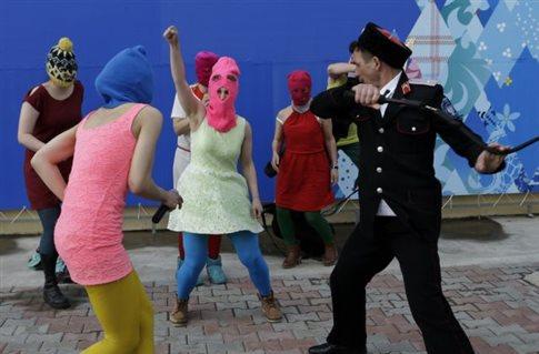 Με σκηνές από το μαστίγωμα στο Σότσι το νέο βίντεο κλιπ των Pussy Riot