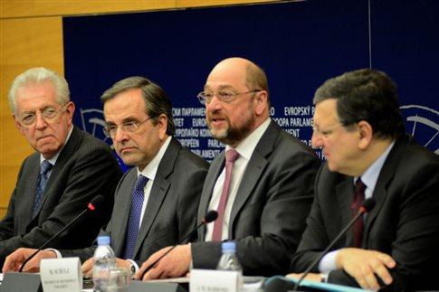 Επίσκεψη-αστραπή του Αντώνη Σαμαρά στο Ευρωπαϊκό Κοινοβούλιο