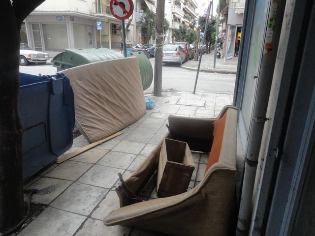 Ογκώδη αντικείμενα  στους δρόμους