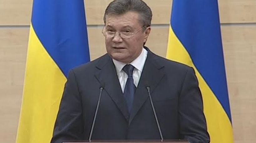 Γιανουκόβιτς: «Είμαι ακόμη ζωντανός και παραμένω ο ηγέτης της Ουκρανίας»