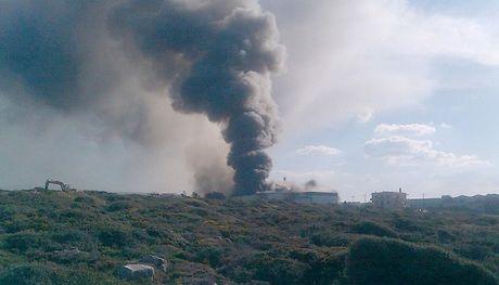 Πυρκαγιά σε αποθήκες της Creta Farm στο Ρέθυμνο