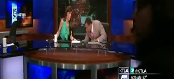 Η στιγμή που σεισμός 4,7 βαθμών χτυπάει το Λος Αντζελες -Πανικός σε τηλεοπτικό στούντιο [βίντεο]