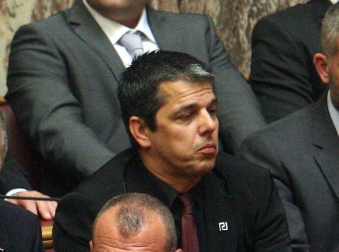 Εκτός Κοινοβουλευτικής Ομάδας της Χρυσής Αυγής ο Στ. Μπούκουρας