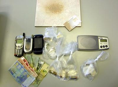 Σύλληψη 33χρονου στη Λάρισα για διακίνηση ναρκωτικών και κατοχή φυσιγγίων