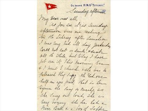 Στο «σφυρί» η τελευταία επιστολή από τον Τιτανικό
