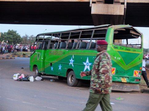 Διπλή βομβιστική επίθεση με στόχο λεωφορεία στο Ναϊρόμπι