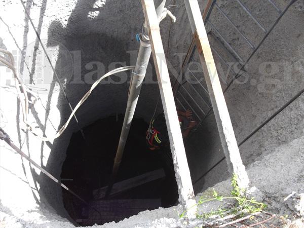 Δραματικές ώρες για έναν εργάτη στην Κρήτη που καταπλακώθηκε μέσα σε πηγάδι [εικόνες&βίντεο]