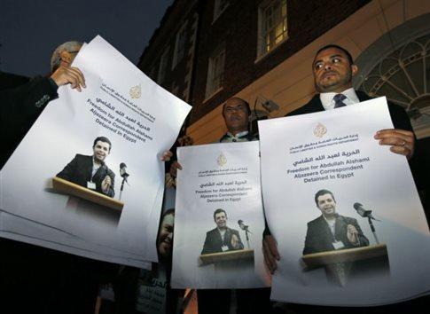 Σε κρίσιμη κατάσταση κρατούμενος δημοσιογράφος του Al Jazeera στην Αίγυπτο