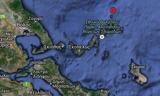 Σεισμός 4,3 βαθμών ΒΑ της Σκοπέλου πριν λίγο