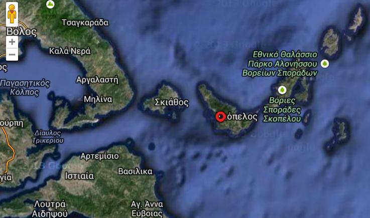 Σεισμός 3,9 βαθμών στη Σκόπελο