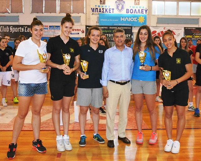 Πρωταθλήτρια η ομάδα του Αρη στο Πανελλήνιο κορασίδων του Βόλου