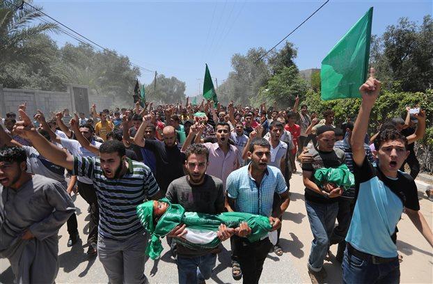 Αιματοκύλισμα στη Γάζα με νεκρούς ανάμεσά τους και πολλά παιδιά