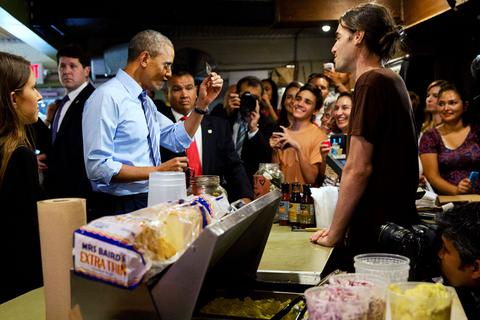 Ο Ομπάμα δεν μπορούσε να περιμένει στην ουρά fast food