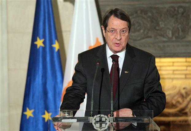 Στην Αθήνα τη Δευτέρα ο πρόεδρος της Κύπρου Ν. Αναστασιάδης