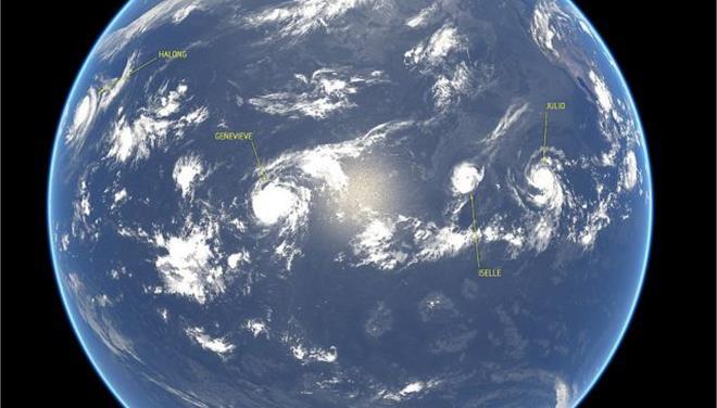 Τέσσερις τυφώνες «σαρώνουν» ταυτόχρονα τον Ειρηνικό Ωκεανό